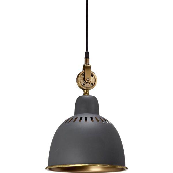 Hängelampe Cleveland Metall Industrie-Stil Grau/Messing