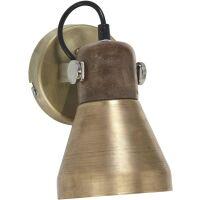 Wandspot ASHBY SINGLE m. Schalter Antik-Gold