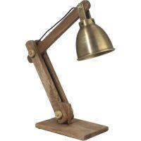 Tischlampe ASHBY Industrial Antik Gold
