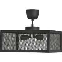 Deckenlampe Gitternetz schwarz