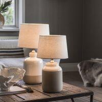 Lampenfuß LISBON Keramik/Holz 40cm