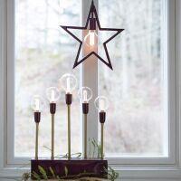 Adventsleuchte CARLA für 5 Glühbirne...