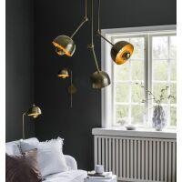 Wandlampe BRIGHTON Schwarz/Messing