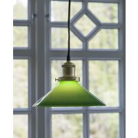 Kleine Fensterlampe AUGUST weiß/Messing Ø15 cm
