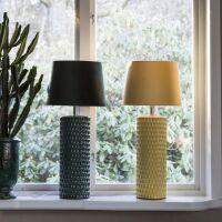 Lampenfuß HONEYCOMB Keramik Tannengrün