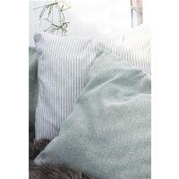 Kissenhülle aus Baumwolle hellgrün 50x50cm