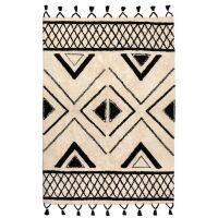 Teppich SAMI creme/schwarz 200x290 cm