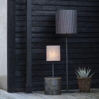 Outdoor-Stehlampe AGNAR 156cm Leinen Grau