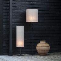 Outdoor-Bodenlampe AGNAR 100cm Leinen Weiß