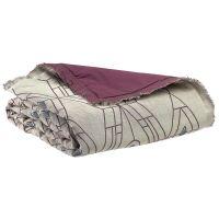 Bettläufer Daunendecke ZEFF TESS Bordeaux 80 x 180