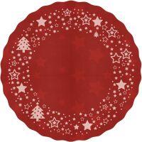 Vinyl Teppich MATTEO Xmas-Sterne rot