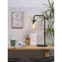 Tischlampe WARSAW Eisen/Glas schwarz