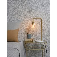 Tischlampe WARSAW Eisen/Glas Gold