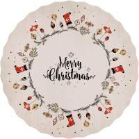 Vinyl Teppich MATTEO Merry Xmas Beige