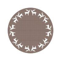 Vinyl Teppich MATTEO Elch-Bordüre braun