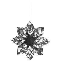 Weihnachtsstern ANNA STAR Rattan Schwarz Ø82 cm