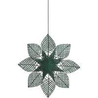 Weihnachtsstern ANNA STAR Rattan Grün Ø82 cm