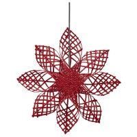 Weihnachtsstern ANNA STAR Rattan Rot Ø45,5 cm