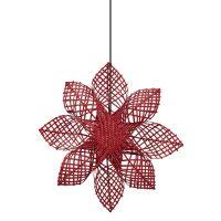 Weihnachtsstern ANNA STAR Rattan Rot Ø82 cm