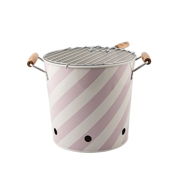 Barbecue BBQ Tisch Grill rosa/weiss