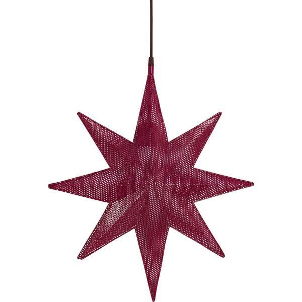 Weihnachtsstern CAPELLA Metall 40cm rot