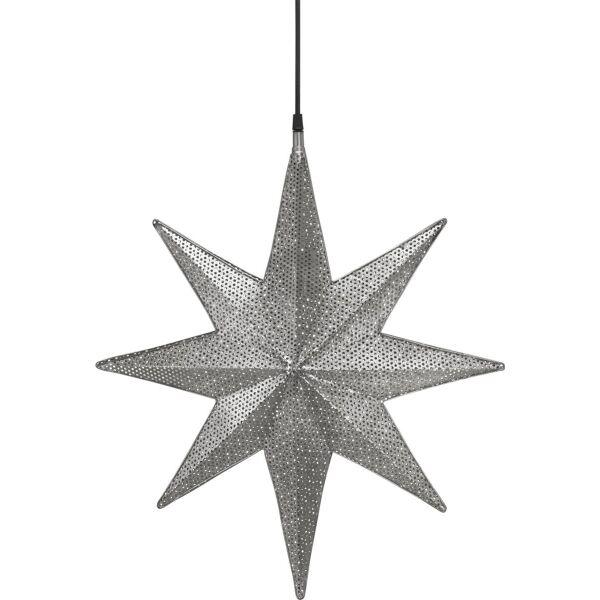 XXL-Weihnachtsstern CAPELLA Metall 50cm Silber
