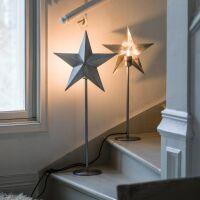 Standleuchte NORDIC STAR Silber 63cm