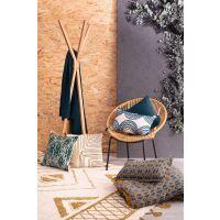 Tagesdecke Stonewash SWAMI 180x260 cm Petrolgrün