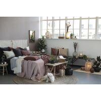 Vintage Quilt 100% Baumwolle Rostbraun
