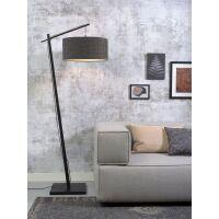 Stehlampe ANDES Bambus schwarz/Schirm Ø47cm...