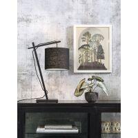 Tischlampe ANDES Bambus schwarz/Schirm Ø18cm schwarz