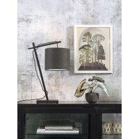 Tischlampe ANDES Bambus schwarz/Schirm Ø18cm...