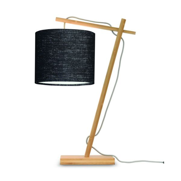 Tischlampe ANDES Bambus naturel/Schirm Ø18cm schwarz