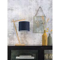 Tischlampe ANDES Bambus naturel/Schirm Ø18cm Blue...