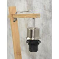 Tischlampe ANDES Bambus naturel/Schirm Ø18cm Hellgrau