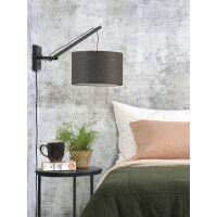 Wandlampe ANDES Gr.S Bambus schwarz/Dunkelgrau