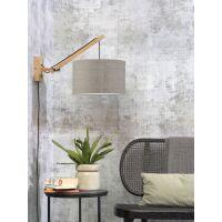 Wandlampe ANDES Gr.S Bambus naturel/Leinen dunkel