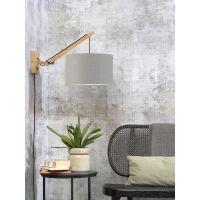 Wandlampe ANDES Gr.S Bambus naturel/Schirm hellgrau
