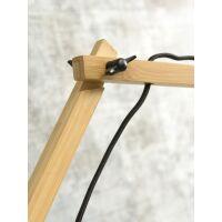 Wandlampe ANDES Gr.L Bambus naturel/Schirm Ø47cm hellgrau
