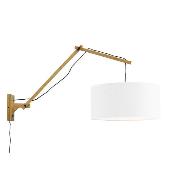Wandlampe ANDES Gr.L Bambus naturel/Schirm Ø47cm weiss