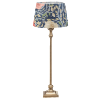 Tischlampe KIM Messing mit Schirm OPHELIA Blue