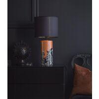 Lampenfuß ZEBRA Keramik orange 42cm