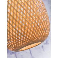 Hängelampe MEKONG Bambus weiss/Natur Tube