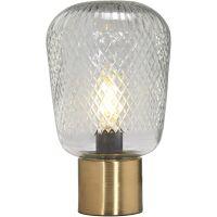 Tischlampe JULIETTE Messing/Glas 21cm