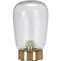 Tischlampe JULIETTE Messing/Glas 29 cm