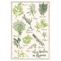 "Geschirrtuch ""Herbes de Provenve"" 100%..."