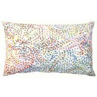Kissen DAPHNE mit bunter Stickerei 65x40 cm