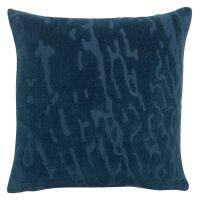Kissen INES 100% Baumwolle Tintenblau 45x45 cm
