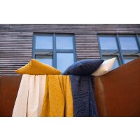 Kissen INES 100% Baumwolle Bronze 50x30 cm