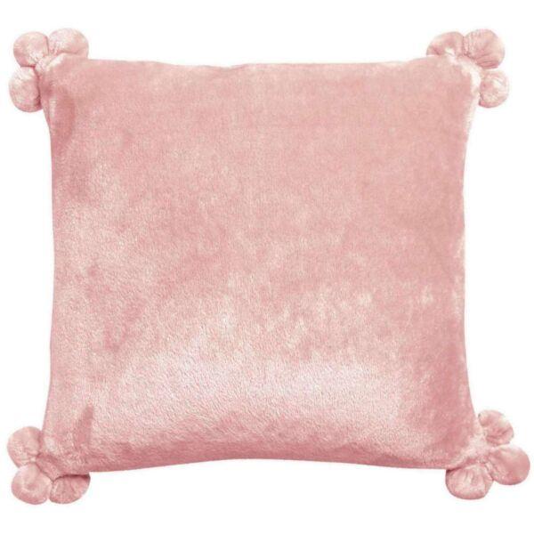Kissen TENDER pompons Rosa 45x45 cm